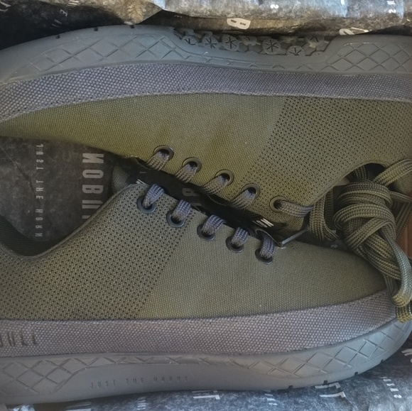 Nobull Army Green Canvas Trainer Size8